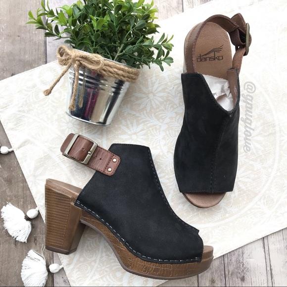 04d681068c7 Dansko Shoes - Dansko Reggie black leather slingback mules SZ 37